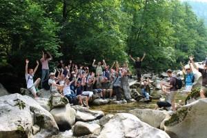 Canyoning, Wasser, Team, Steine
