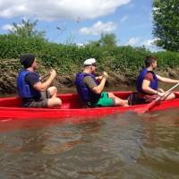 Naturerlebnis, Kanu, Wasser, Freizeit, team