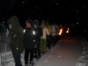 Schneeschuhe, Schnee, Winter, Schwarzwald, Team, Nacht
