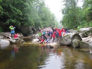 Canyonig, Wasser, Team, Schwarzwald, Steine, Freizeit