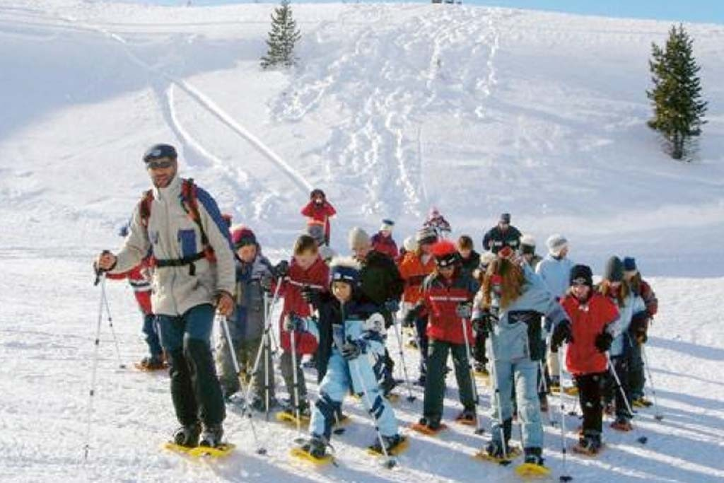 Schneeschuhe, Schnee, Winter, Team,
