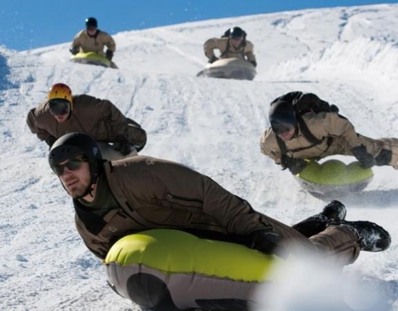Airboarding, Schwarzwald, Team, Schnee, Winter