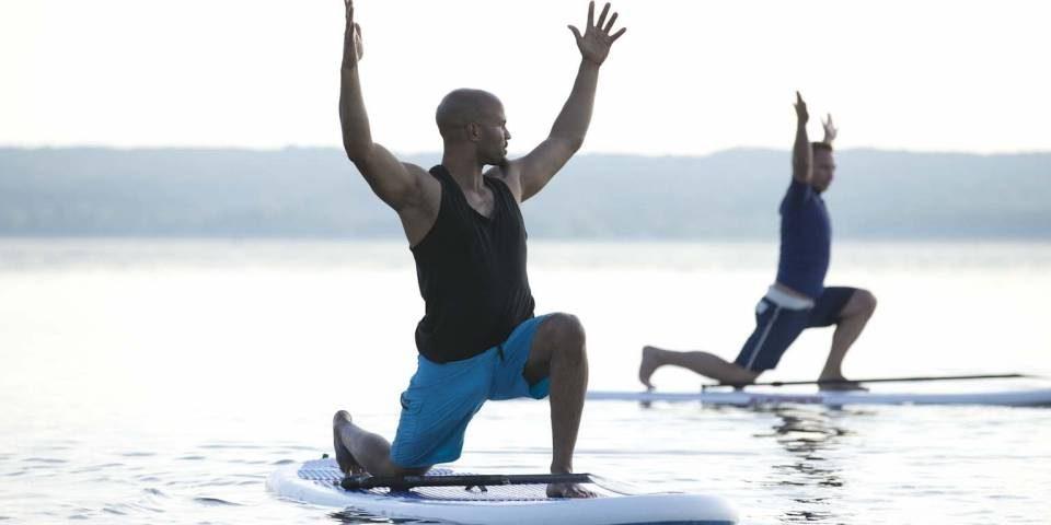 Team, Wasser, SUP, Yoga, Freizeit